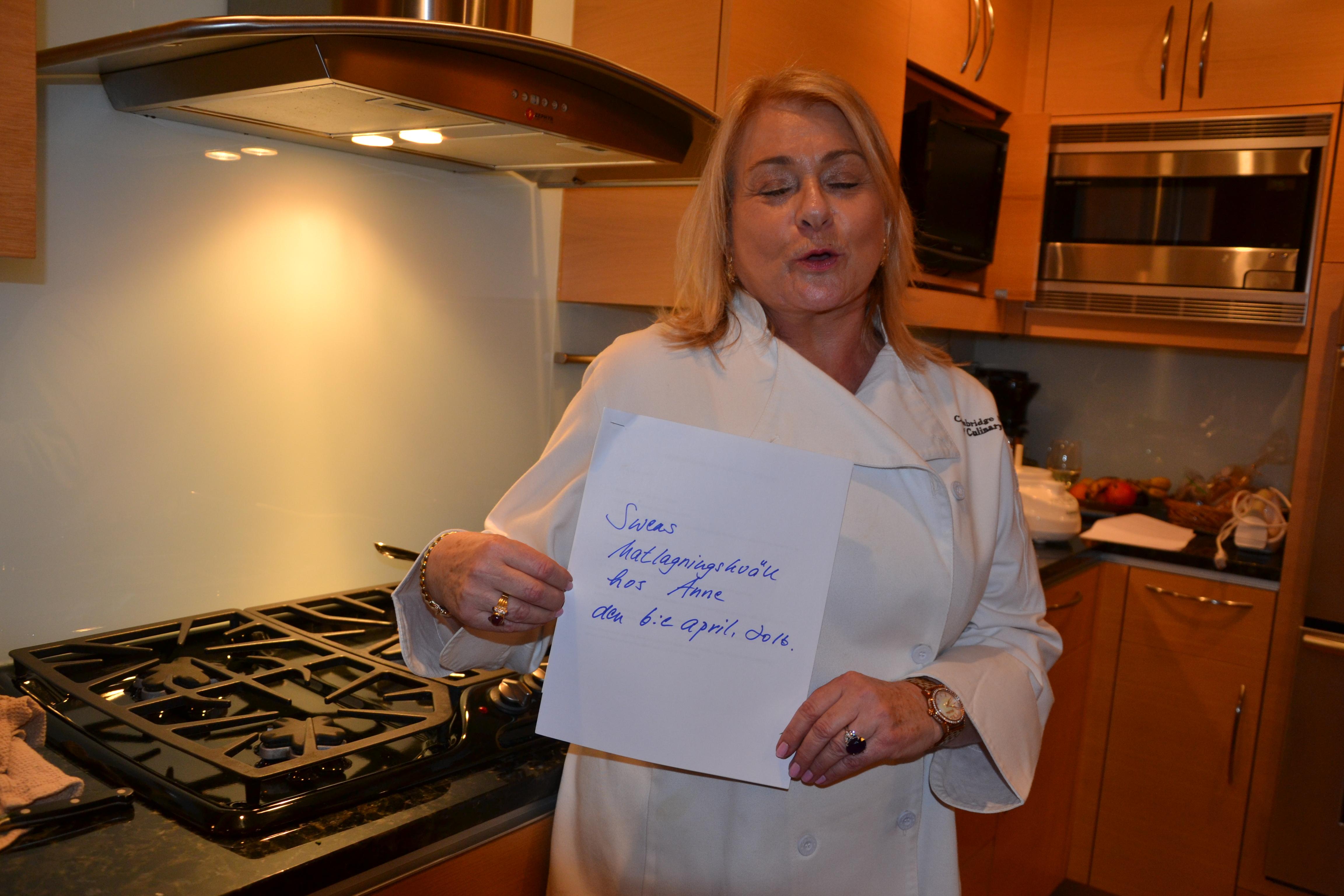 Matlagningskväll hos Anne Liebman